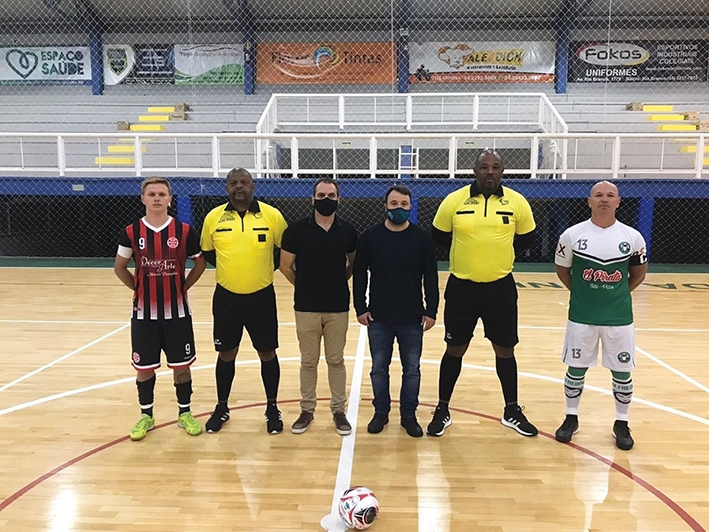 Jogo que abriu a competição contou com a presença do Diretor de Esportes, Vagner Do Canto, e, o vice-prefeito Marcio Rech.