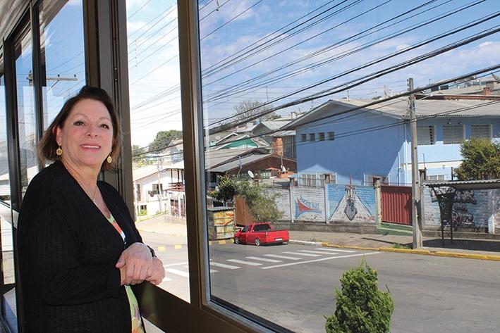 Noelma Inglês Facchin tem muito orgulho de morar no bairro União. - Gabriela Fiorio